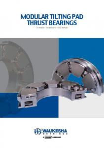 Modular Tilting Pad Thrust Bearings Compact Equalized CQ Range