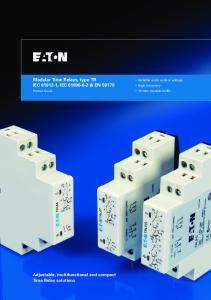 Modular Time Relays, type TR IEC , IEC & EN 50178