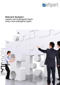 Modularer Baukasten Corporate Learning Management System Campus Learning Management System