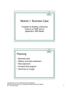 Module 1: Business Case