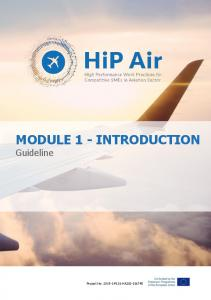 MODULE 1 - INTRODUCTION Guideline