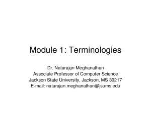 Module 1: Terminologies