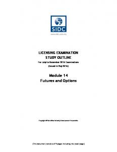 Module 14 Futures and Options
