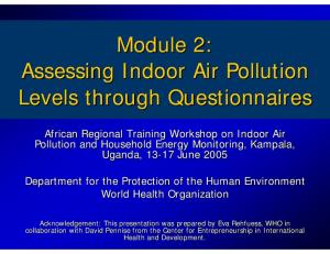 Module 2: Assessing Indoor Air Pollution Levels through Questionnaires