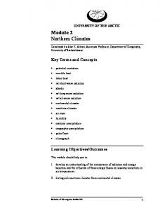 Module 2 Northern Climates