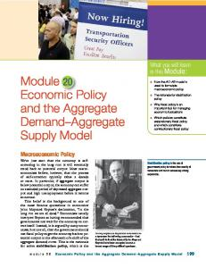 Module 20 Economic Policy and the Aggregate Demand Aggregate Supply Model