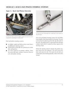 MODULE 3 RACK AND PINION STEERING SYSTEMS