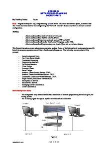 MODULE 39 NETWORK PROGRAMMING SOCKET PART I
