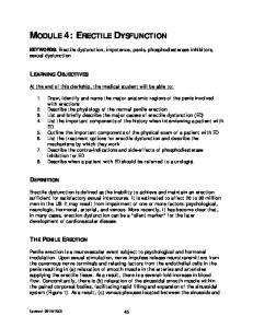 MODULE 4: ERECTILE DYSFUNCTION