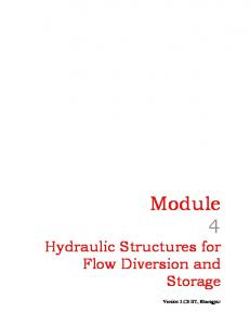 Module 4 Hydraulic Structures for Flow Diversion and Storage