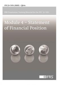 Module 4 Statement of Financial Position