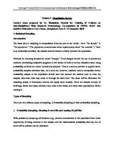 Module 5 Quantitative Survey