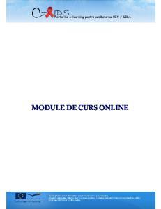 MODULE DE CURS ONLINE