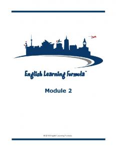 Module English Learning Formula