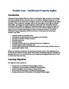 Module Four - Intellectual Property Rights