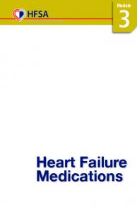 Module. Heart Failure Medications