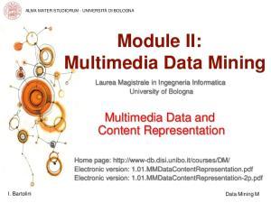 Module II: Multimedia Data Mining