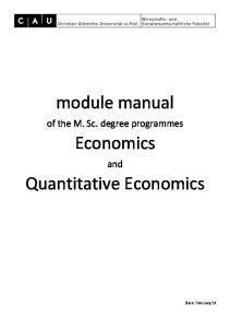 module manual Economics Quantitative Economics