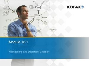 Module Notifications and Document Creation