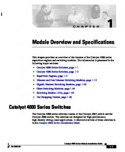Module Overview and Specifications