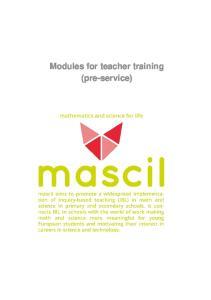 Modules for teacher training (pre-service)
