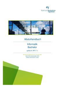 Modulhandbuch. Informatik Bachelor