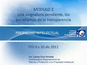 MODULO 3 Una asignatura pendiente, los paradigmas de la transparencia
