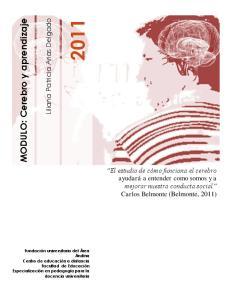 MODULO: Cerebro y aprendizaje