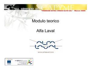 Modulo teorico. Alfa Laval