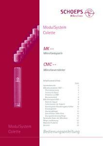 ModulSystem Colette. MK -- Mikrofonkapseln CMC --