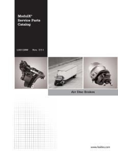 ModulX Service Parts Catalog