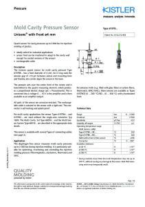 Mold Cavity Pressure Sensor