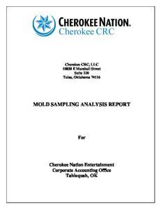 MOLD SAMPLING ANALYSIS REPORT