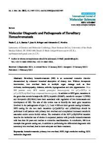 Molecular Diagnostic and Pathogenesis of Hereditary Hemochromatosis