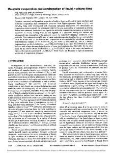 Molecular evaporation and condensation of liquid n-alkane films