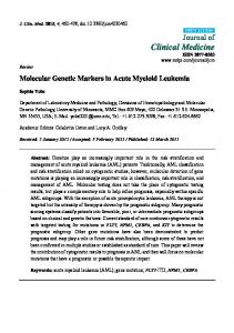 Molecular Genetic Markers in Acute Myeloid Leukemia