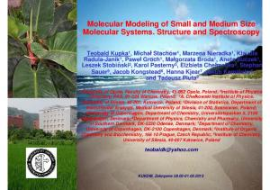 Molecular Modeling of Small and Medium Size Molecular Systems. Structure and Spectroscopy
