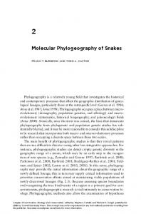 Molecular Phylogeography of Snakes