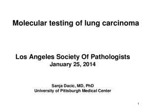 Molecular testing of lung carcinoma