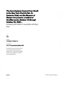 MoMA. The Museum of Modern Art.  Date. Publisher. Exhibition URL