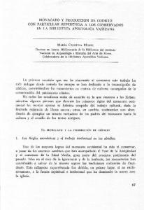 MONACATO Y PRODUCCION DE CODICES