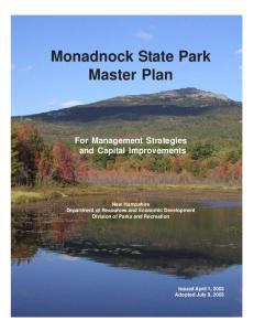 Monadnock State Park Master Plan