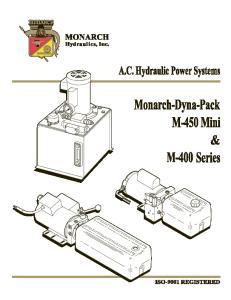 Monarch M-Series A.C. Hydraulic Power Systems
