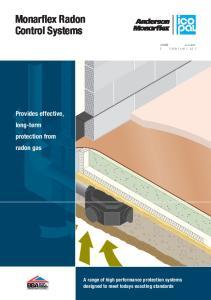 Monarflex Radon Control Systems