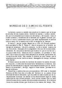 MONEDAS DE D. SANCHO EL FUERTE