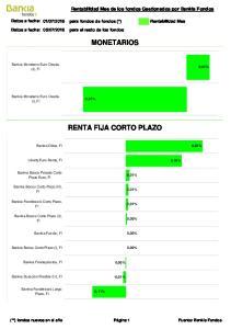 MONETARIOS RENTA FIJA CORTO PLAZO