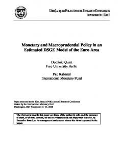 Monetary and Macroprudential Policy in an Estimated DSGE Model of the Euro Area