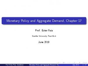 Monetary Policy and Aggregate Demand, Chapter 17
