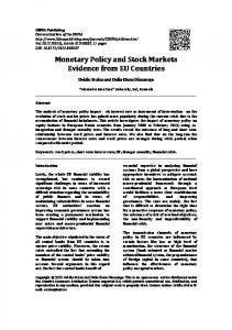 Monetary Policy and Stock Markets Evidence from EU Countries