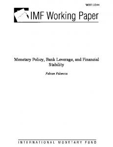 Monetary Policy, Bank Leverage, and Financial Stability